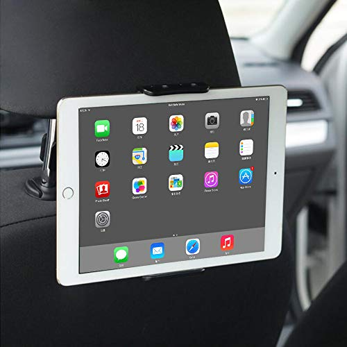 C-star Tablet Halterung Auto,KFZ-Kopfstützen Halterung für Pad Air Mini,KFZ Kopfstützen iPad Kopfstützen Halterung 360° Grad Einstellbare rotierende Autositz-Smartphone und Tablet mit 6~11 Zoll (01)