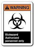 Cita aluminio signo señal de advertencia riesgo biológico. Sólo personal autorizado señal de - Best Reviews Guide