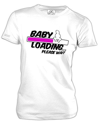 BABY LOADING - in versch- Farben - WOMEN T-SHIRT by Jayess Gr. XS bis XXL Weiss - Pink