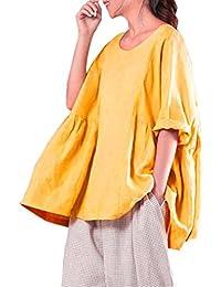 Top Suelto Mujer Verano, Covermason Mujeres Que Imprimen Las Camisas Blusa de Manga Larga Casual