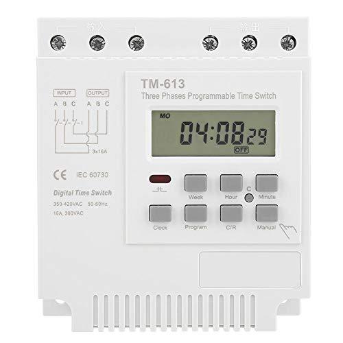 Preisvergleich Produktbild Keenso Intelligentes wöchentliches programmierbares Zeitrelais Tm-163 mit drei Phasen 380v-Steuerleistungszeitschaltuhr für Mikrocomputer-Wasserpumpe
