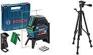 Bosch Professional Crossline-Laser GCL 2-15 G (GCL 2-15 G; RM 1 Professional; 3x 1,5 V LR6-Batterien (AA); Geh