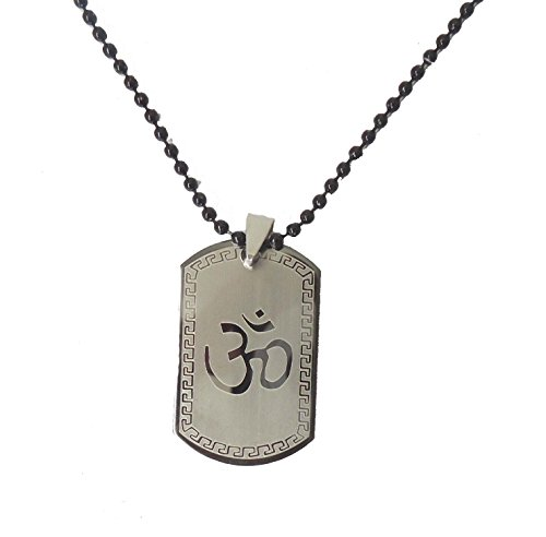 Modish Look Religious Silver OM locket with chain