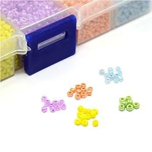 Perle Perle de rocaille en Verre (1 boite de 12000 pièces de couleur Multicolore)