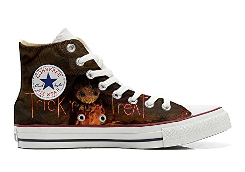Converse All Star Hi chaussures coutume mixte adulte (produit artisanal) the horror