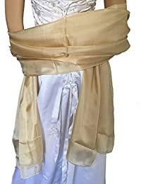 LadyMYP 180cm*110cm Hochwertig schlicht, leicht glänzend Seidenschal Stola aus 100% Seide, mehrere Farben zur Wahl