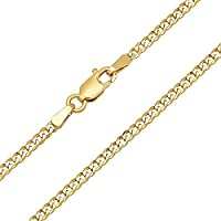 14 Carat / 585 Unisex Yellow Gold Curb Chain - Width 3.6 mm - Available in Various Lengths (60)