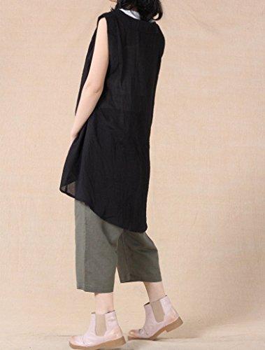 Vogstyle Damen Elastische Taillen Beiläufige Harem Hosenrock Style-2 Vert
