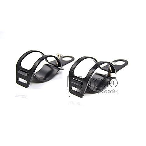 BJ Global Lot de 228mm–41mm pour moto tour signaux Support lampe Support Fourchette à oreilles pour Harley Moto