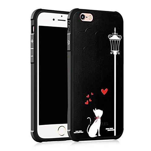 Iphone 6 case,Iphone 6S case,Koala Group painted cartoon/silicone anti-drop airbag Apple phone case for Iphone 6/6S (Star love) Love cat