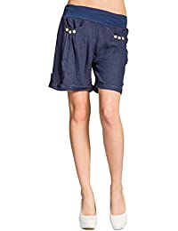 CASPAR BST002 Damen Leinen Shorts