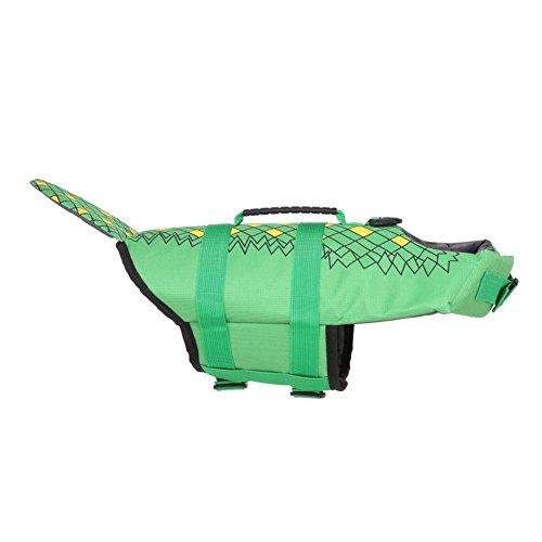 Reputedc Cane, Costume da Bagno in Coccodrillo, Giubbotto salvagente per Can,i Verde