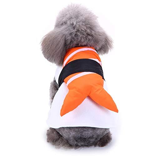 soundwinds Haustierkostüm für Hunde, Cosplay, Japanisches Sushi-Stil, ohne Handband, für Weihnachten, Halloween, ()