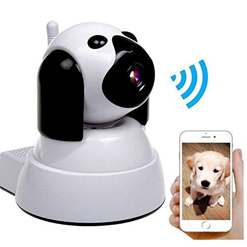 Wly&Home Wireless Wifi Kamera 720 P HD Überwachungskamera Hund IP Cam mit 355 °/120 ° Schwenk, Bewegungsmelder, Nachtsicht, Fernbedienung