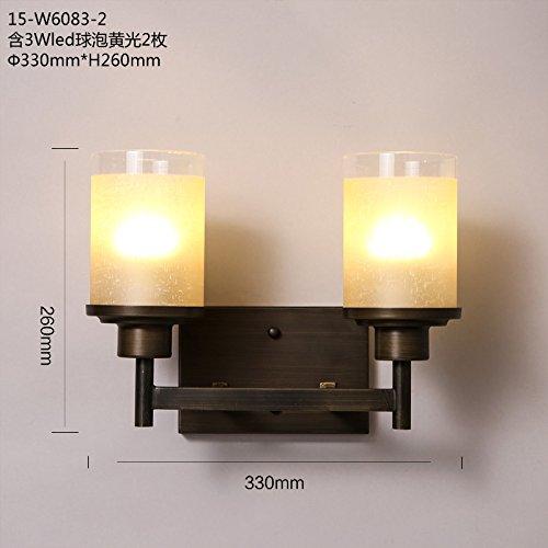 Chrom Wand Globus (BESPD Wand Lampen Retro Flur Schlafzimmer Bett Lampen Dual Head Kerzen Wandleuchten,)
