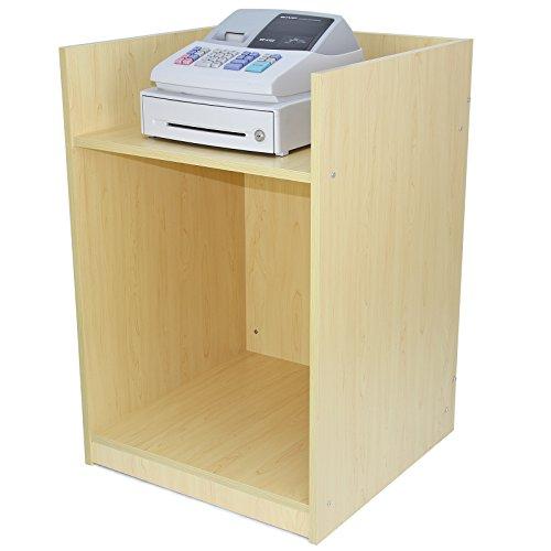 MonsterShop - Mostrador TB60 para Caja Registradora con Acabado en Arce Laminado para Tienda y Recepción 60cm x 90cm x 60cm