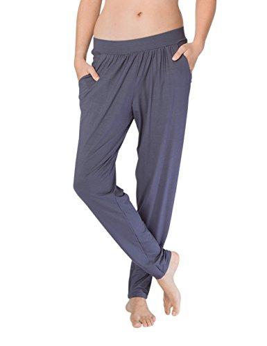 Calida Damen Schlafanzughose Favourites Trend, Blau (Mystic Blue 428), 40 (Herstellergröße: S) (Hose Damen Pyjama)