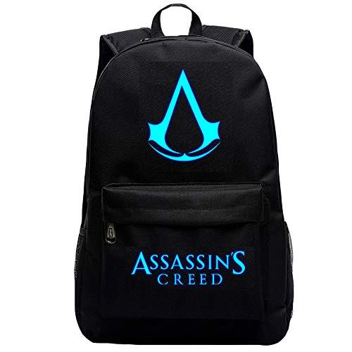 Assassin's Creed Freizeitrucksack Mode Exquisite Bedruckte Rucksack Koreanische Version des einfachen Studenten Schöne Rucksack (Color : A02, Size : 32 X 20 X 48cm)