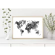 Suchergebnis Auf Amazon De Für Poster Weltkarte Schwarz Weiss