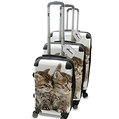 Collection 134, Personnalisé 360 degree 4 Roues Valise de Voyage Rigide Luggage Bagage Hard Case Cover Luggage Trolley Travel Bag
