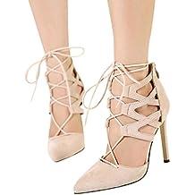 OYSOHE Damen Schuhe Damen Lace UP Herde Block Ankle Riemchen Sandalen Party High Heels Schuhe