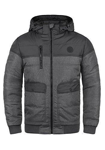 BLEND Borinho Herren Winterjacke Stepp-Jacke mit Kapuze aus hochwertiger Materialqualität, Größe:M, Farbe:Granite (70147)