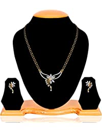 Factory Price 1G Gold American diamonds Latest Design Mangalsutra Set
