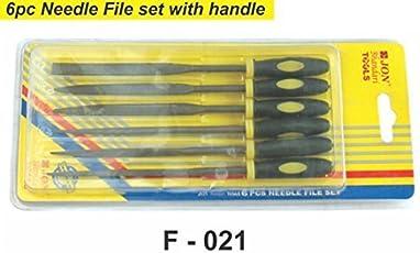 Jon Bhandari 6pc Needle File Set with Handle F021