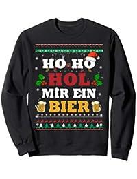 Christmas Weihnachts Herren Ho Ho Hol Mir Ein Bier Ugly Sweatshirt