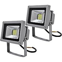 Leetop 2PCs 20W Luz Blanca Fría SMD Proyector LED Proyector de Exterior Proyector