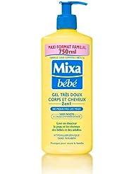 MIXA Bébé Gel Très Doux Corps/Cheveux 2-en-1 sans Savon Maxi Format Familial 750 ml