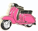 Mainly Metal Metall Emaille Brosche Lambretta In Pink