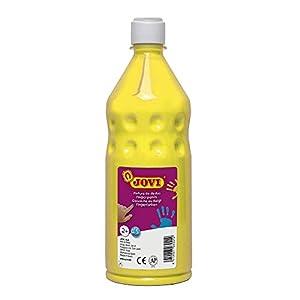 Jovi - Botella de Pintura Dedos, 750 ml, Color Amarillo (56203)