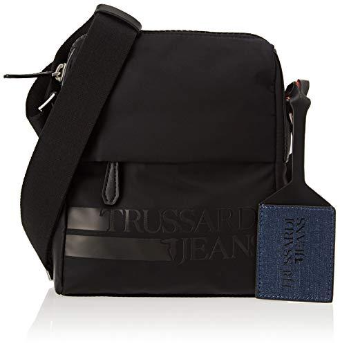 Trussardi Jeans 71B00093-9Y099999, Borsa Messenger Uomo, Nero, 19x22.5x8 cm (W x H x L)