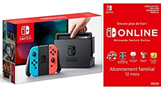 Console Nintendo Switch avec Joy-Con : rouge néon/bleu néon + Switch Online 12 Mois Famille [Download Code] (B07MDGR96R) | Amazon price tracker / tracking, Amazon price history charts, Amazon price watches, Amazon price drop alerts