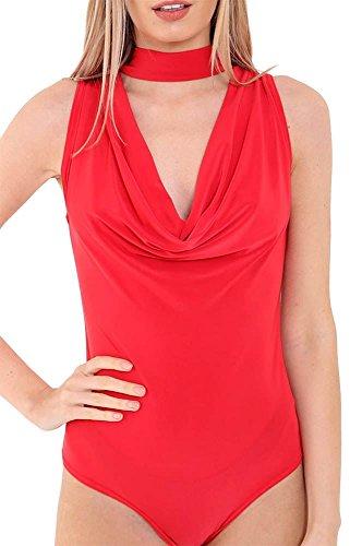 Generic - Combinaison - Body - Sans Manche - Femme * taille unique red