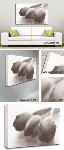 GFM Painting Handgemalte Ölgemälde Reproduktion von A Trio of Tulips Modern Art,Ölgemälde von Abstrakte Kunst Zeitgenössische Kunst - 36 By 48 inches -