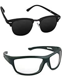 Magjons Fashion Combo Of Clubmaster And Night Driving Sunglasses
