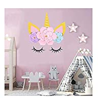 Super Cute Cute Unicorn Theme Background Decoration Sweet Table Dress Birthday Layout Background Paper Flower
