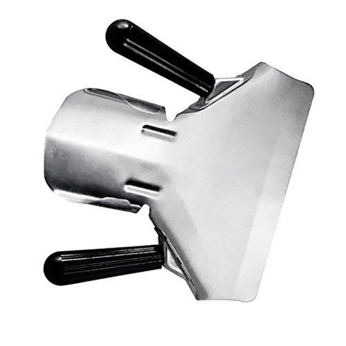 MagiDeal Edelstahl Chip Schaufel Pommes frites-/ Abfüll-Schaufel Bratschaufel aus Edelstahl - Silber, Doppelgriff