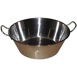 baumalu 340676 bassine confiture 38 cm en acier inoxydable cuisine maison. Black Bedroom Furniture Sets. Home Design Ideas