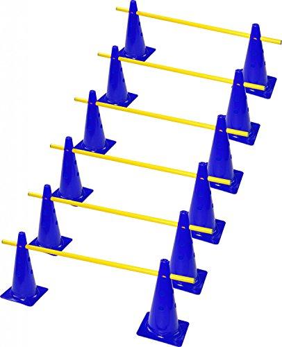RHINOS sports Steckhürdenset 6er   38cm   blau