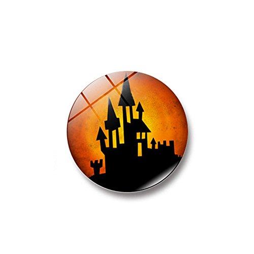 mxjeeio 1stück Halloween, lustige Serie Glas Kühlschrank 25mm Aufkleber Magnetschnalle Magnet Kühlschrank Dekoration magnetisch Dreidimensionale Abnehmbare Wandsticker Kinderzimmer Babyzimmer Deco