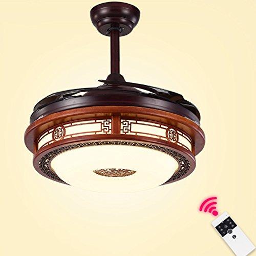 SF fan lamp, Stealth Deckenleuchte Chinesisch geführt Restaurant Wohnzimmer Schlafzimmer Stealth Fan Lampe mit Lampe Deckenventilator Lüfter Kronleuchter