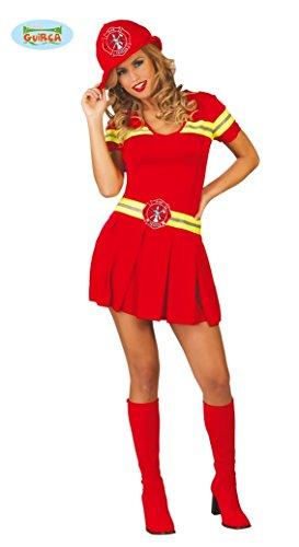 sexy Feuerwehr Frau - Kostüm für Damen Gr. M/L, Größe:S/M (Sexy Feuerwehr Frau Erwachsene Damen Kostüme)