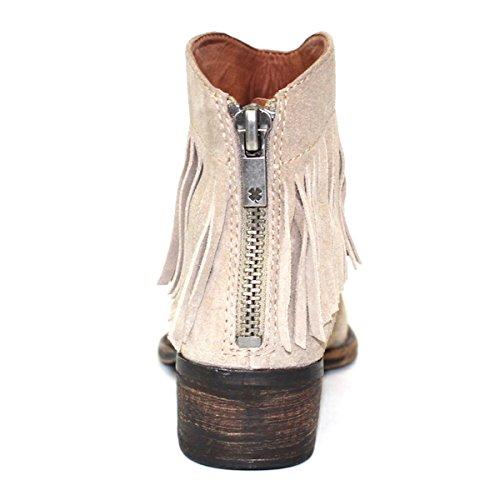 Lucky-Brand-Low-Heel-Fringe-Tassel-Cowboy-Boots-UK-Size-35