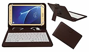 Acm Premium Usb Keyboard Case For Samsung Galaxy J Max Tab Tablet Cover Stand With Free Micro Usb Otg - Brown