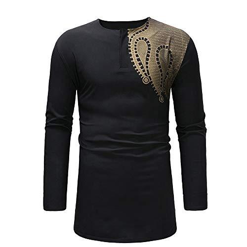 Chemises Longues pour Hommes, Chemisier à Dessus imprimé de Style Africain Doux de Malloom
