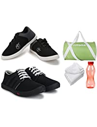 Treadfit Men Superfit Sneakers Casual Shoes Dailywear Combo With Duffle Bag,Water Bottle And HandTowel