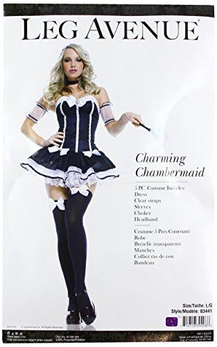 Französisch Dienstmädchen Kostüm Adult - Leg Avenue Sexy Zimmermädchen Kostüm 5-teilig, 1 Stück